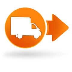 Fototapete - livraison sur symbole web orange