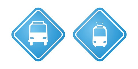 Public transport signs