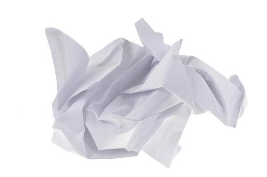 Boulette de papier froissé