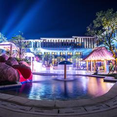 beautiful scence hotel at night