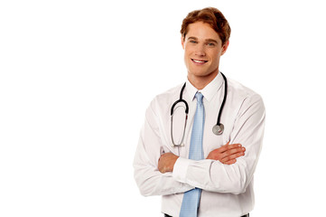 Young confident male doctor