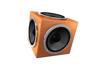 Lautsprecher Cube Holz 3