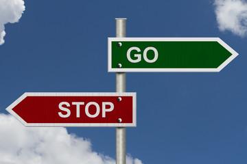 Stop versus Go