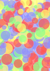 Hintergrund bunte Kreise