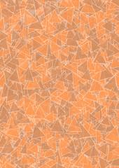 Hintergrund braun, orange Dreiecke
