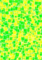 Hintergrund grün gelbe Quadrate
