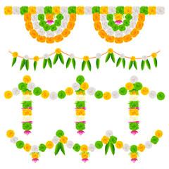 India Tricolor Flower Decoration