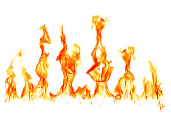 Canvas Prints Fire / Flame Fire flames isolated on white background