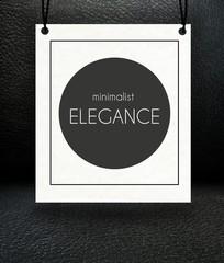 Minimalist elegance paper poster concept