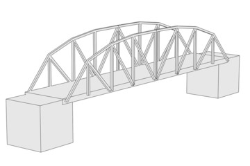 cartoon image of bridge (architecture element)