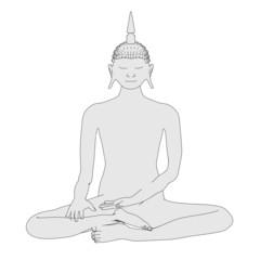 cartoon image of buddha statue