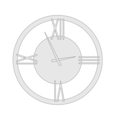 cartoon image of wall clock
