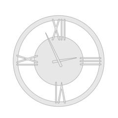 cartoon image of wall clock