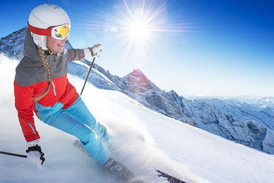 Girl On the Ski