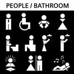 WC Piktogramme Set