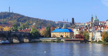 Autumn Prague St. Nicholas' Cathedral, Czech Republic