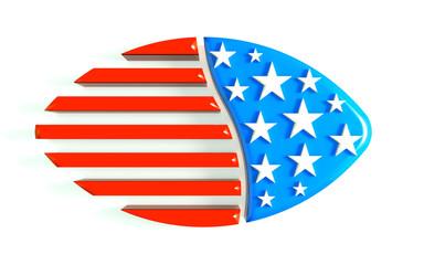 3D football USA Logo