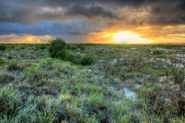 The Nullarbor sunsets in Australia