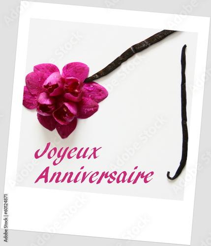 Joyeux Anniversaire Orchidee Rose Photo Libre De Droits Sur La