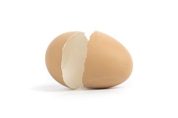Egg shell crack isolated