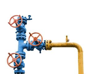 Gas valve tree.