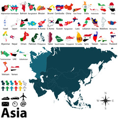 Political maps of Asia