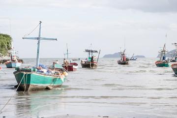 Small fishing boat at the coast