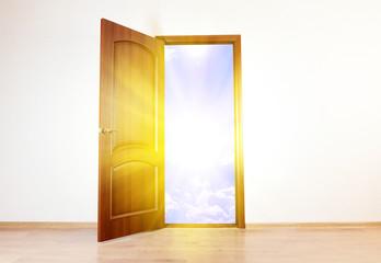 Open door to new life in room