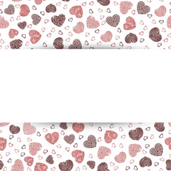 Background Valentine's Day with the paper in the middle