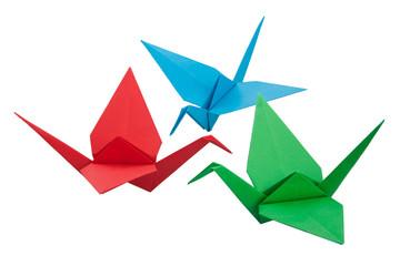 Three origami crane