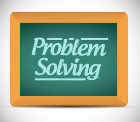 problem solving message on a chalkboard.