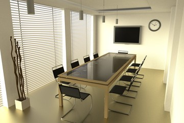realistic 3d model of conference room