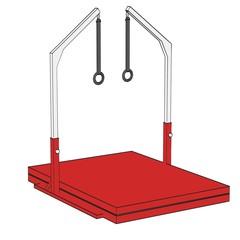 cartoon image of gym equipment
