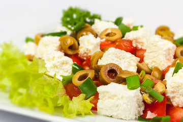 salad with olives and feta