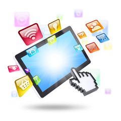 Tablet computer and application icons