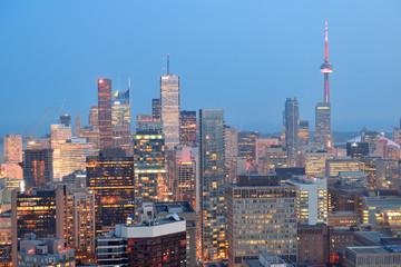 Fototapete - Toronto dusk
