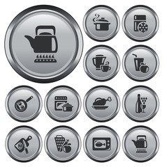 Kitchen and cooking button set