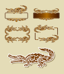 Crocodile Pattern Decoration