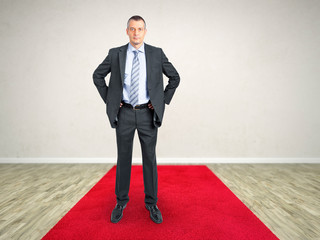 red carpet business man