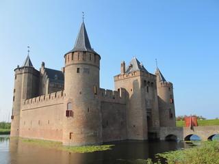 Photo sur Aluminium Chateau Schloss Muiderslot bei Amsterdam(Holland)