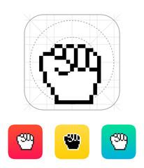 Pixel fist icon.