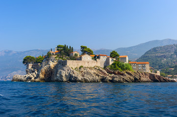 the old city on a rocky island