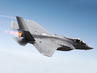 F-35 A Lightning at super sonic speeds Wall mural