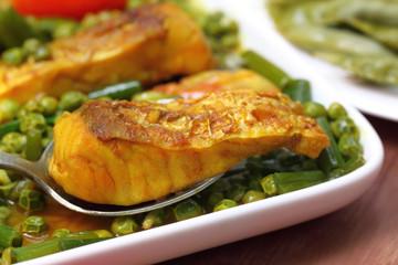 Spicy dish of bighead carp