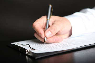 signing finance contract