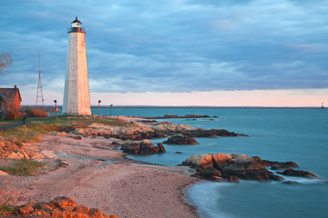 Five Mile Point - New Haven Lighthouse. CT Wall mural