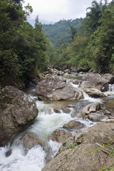 River near Sapa in northern Vietnam