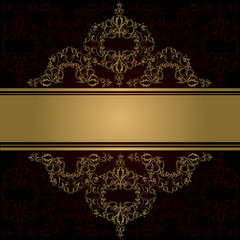 Vintage background. Vector. victorian golden ornament