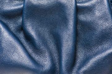 Folded blue leather pattern
