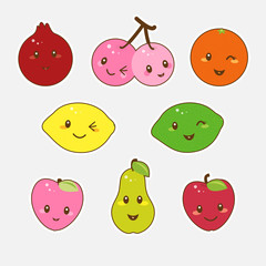 Cute fruits.